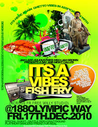 Poster Fish Fry Jahlaw Rasta Poster With A Different Vibe