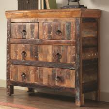 Reclaimed Media Cabinet 4 Drawer Reclaimed Wood Cabinet Coaster 950366