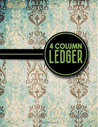 small ledger books reading 4 column ledger account book accounting journal entry