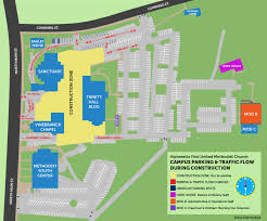 please note changes to areas on our campus as a result of the construction project the driveway between the vinebranch building and the methodist youth