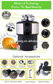 Sink Waste Disposer 34 Hp With BLDC Motor Adjustable Grinding SpeedKitchen Sink Food Waste Disposer
