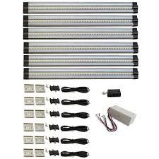 Cabinet lighting 6 Ikea 4000k Neutral White Hardwired Led 6strip Light 6piece Kit Home Depot Favorite Monkey 12 In 4000k Neutral White Hardwired Led 6strip