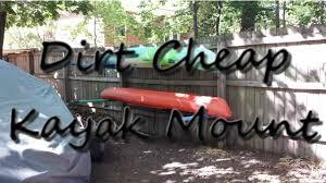 dirt diy dual kayak wall rack mount cradle free to me 10 50 to you