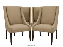 upholstered dining chairs with dark walnut wood legs set of 2 within elegant modern upholstered dining