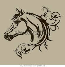 Symbol Tattoo Horse Design Stock Vector Royalty Free 248428231