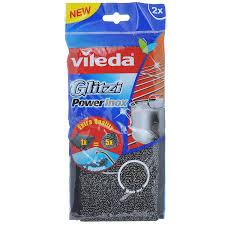 <b>Губка</b> металлическая <b>VILEDA Glitzi</b> Inox Power в упаковке, 2шт в ...