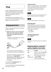 sony cdx gt660up research operating instructions