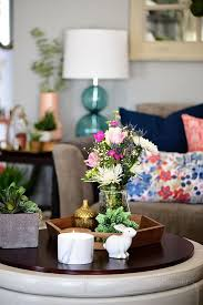 transition to spring family room decor