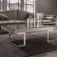 contemporary designer italian mirrored glass coffee table