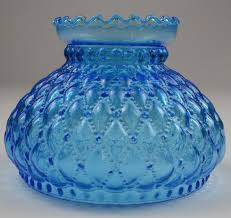 vintage hurricane lamp shade diamond quilted blue glass 575 tall 2 700 jpg