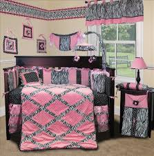 baby boutique pink minky zebra 15 pcs nursery crib bedding set 799418234120
