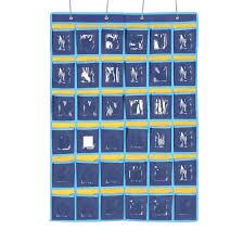 Hanging Pocket Chart Shop Numbered Classroom Pocket Chart Cell Phones Holder Door