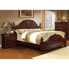 Shop For Furniture Of America Bastillina English Style 2 Piece Cherry Poster  Bed With Nightstand Set. Get Free Delivery At Overstock.com   Your Online  ...