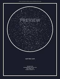 Star Chart Of A Certain Date Custom Star Map Midnight Blue Star Chart Astronomy Stars