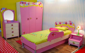 amusing girls bedroom furniture applying pink and green color of single bed and nightstand also furnished childrens pink bedroom furniture