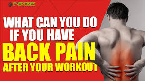 back hurts after a workout exercises
