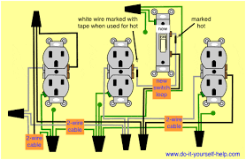 switch wiring diagram outlet wirdig wiring diagrams for switch to control a wall receptacle do it