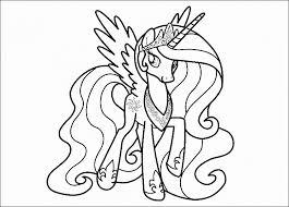 My Little Pony Princess Celestia Coloring Page Printable Princess
