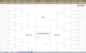 Excel Ncaa Tournament Bracket Ncaa Mens Basketball Tournament Bracket Excel Template