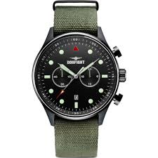 dogfight ace mens green fabric strap chronograph watch df0026