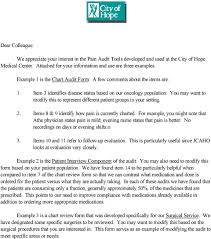 Example 1 Is The Chart Audit Form A Few Comments About The
