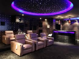 media room lighting ideas. fascinating desaign purple lighting media room ideas with glossy wall facing calm sofa