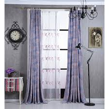 Purple Patterned Curtains