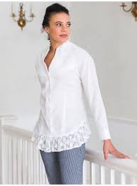 April Cornell Size Chart Victorian Blouse In White By April Cornell