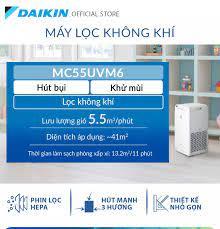Trả góp 0%]Máy Lọc không khí Daikin MC55UVM6 - Phù hợp phòng 41m2 - Công  nghệ Streamer độc quyền - Phin lọc tĩnh điện Hepa - Hút gió 3 hướng - Vận