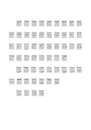 Guitar Chord Charts Sample Free Download