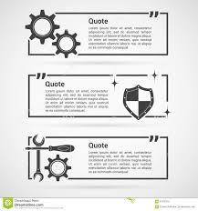 Dow Quote Interesting Set Of Quotes Templates Stock Vector Illustration Of Citation
