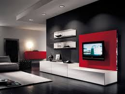 Wall Mounted Living Room Furniture Beautiful Grey White Wood Glass Modern Design Contemporary Living