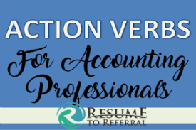 60 Actions Verbs For Accounting Finance Resumes Builder