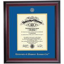 missouri kansas city school color traditional diploma frame  missouri kansas city school color traditional diploma frame