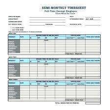 Sample Biweekly Timesheet Beauteous Simple Bi Weekly Timesheet Excel Template Semi Monthly In Format
