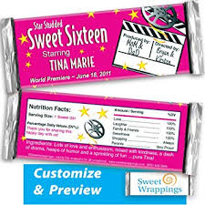 personalized chocolate bar wrappers amazon com personalized candy bar wrappers hollywood