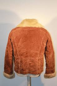 awesome wilsons leather suede brown jacket women s size l rn 69426