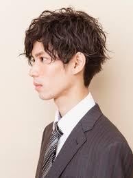 黒髪メンズウェーブパーマメンズ髪型 Lipps 吉祥寺annexmens