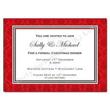 Formal Christmas Party Invitations Red Damask Christmas Party Invitation
