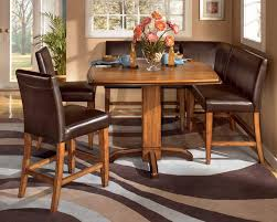 ... Dining Room, Booth Style Dining Room Sets Corner Booth Kitchen Table  Brown Theme With Cutlery