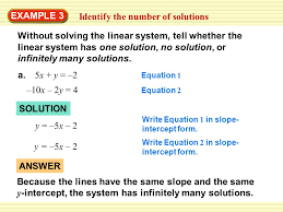 1 without solving the linear system