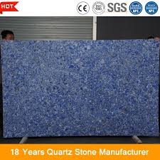 blue engineered quartz stone for kitchen and bathroom countertops