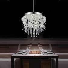 cwi lighting frost 38 watt chrome integrated led chandelier