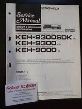 keh in consumer electronics original service manual pioneer cassette car stereo keh 9300sdk keh 9300