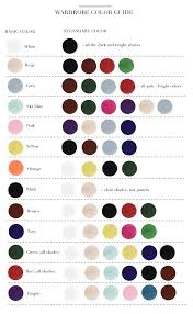 Fashion Colour Chart 41 Insanely Helpful Style Charts Every Woman Needs Right Now