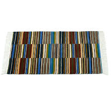 rug handwoven bhaku design multicolour 100 wool