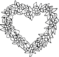 Coloring Pages Coloring Pages Of Hearts And Roses Heart Coloring