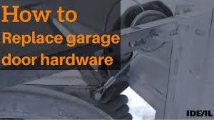 how to replace garage door rollersHow to replace your garage door hardware  YouTube