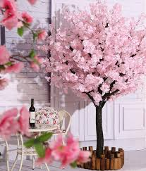 Fake Cherry Blossom Tree With Lights Vicwin One Artificial Cherry Blossom Trees Handmade Light Pink Tree Indoor Outdoor Home Office Party Wedding 6ft Tall 1 8m