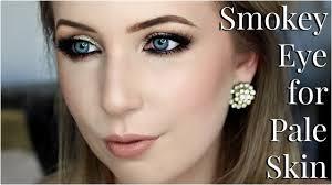 smokey eye makeup for pale skin tips tricks tutorial